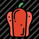 diet, organic, pepper, vegan icon