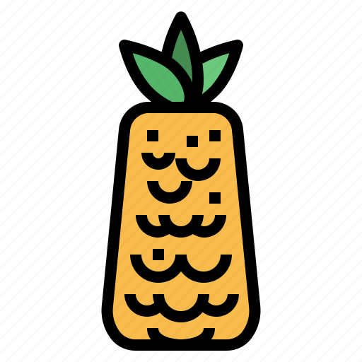 Food, fruit, organic, pineapple icon - Download on Iconfinder