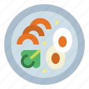 food, greens, salad, vegetables icon