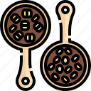 bean, beans, cereal, coffee, grain, grains, seed icon