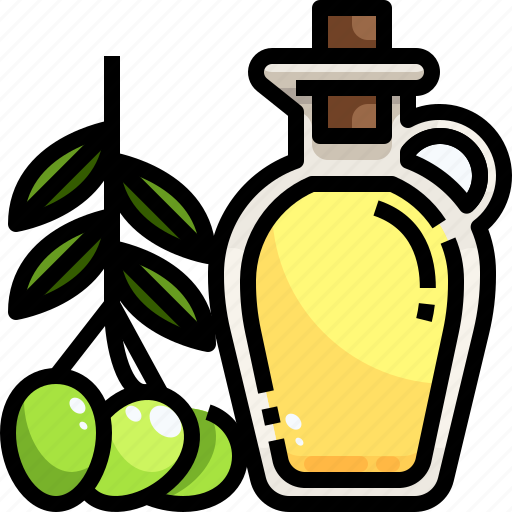 food, healthy, oil, olive, organic, snack icon