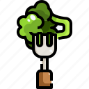 eating, food, fork, healthy, leaves, vegan, vegetarian icon