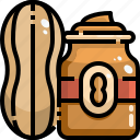 butter, gastronomy, jar, nutrition, peanut, salty, shopping icon