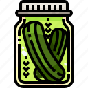 food, healthy, jar, pickle, vegan, vegetarian icon