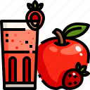 apple, drink, food, fresh, healthy, juice, refreshment icon