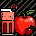 apple, drink, food, fresh, healthy, juice, refreshment icon