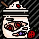 cream, dessert, frozen, ice, summer, summertime, yogurt icon