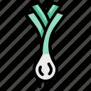 harvest, leek, vegetable, vegetarian, veggie icon