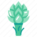 artichoke, harvest, vegetable, vegetarian, veggie icon
