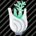 fennel, harvest, vegetable, vegetarian, veggie icon