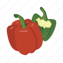 bell, capsicum, food, paprica, pepper, vegetable, vitamin icon