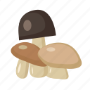 food, mushroom, vegetable, vitamin icon