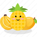 banana, fruit, mango, pineapple, vegetables icon