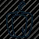 bell, pepper, food, healthy, cooking, ingredient, vegetable icon