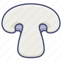 champignon, white, button mushroom, mushroom