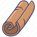 cinnamon, food, herb, spice icon