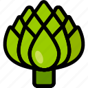 artichoke, food, healthy, organic, vegan, vegetable, vegetarian icon