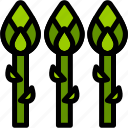 asparagus, food, healthy, organic, vegan, vegetable, vegetarian icon