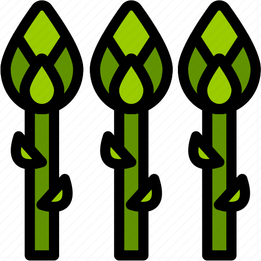 asparagus, food, healthy, organic, vegan, vegetable, vegetarian icon
