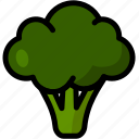 broccoli, healthy, organic, vegan, vegetable, vegetarian icon