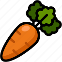 carrot, food, healthy, organic, vegan, vegetable, vegetarian icon