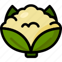 cauliflower, food, healthy, organic, vegan, vegetable, vegetarian icon