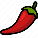 chilli, food, healthy, organic, vegan, vegetable, vegetarian icon