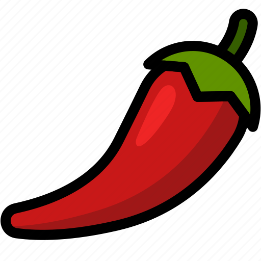 chilli, food, healthy, organic, vegan, vegetable, vegetarian icon
