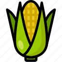 corn, food, healthy, organic, vegan, vegetable, vegetarian icon