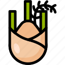 fennel, food, healthy, organic, vegan, vegetable, vegetarian icon