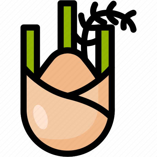 fennel, food, healthy, organic, vegan, vegetable, vegetarian icon