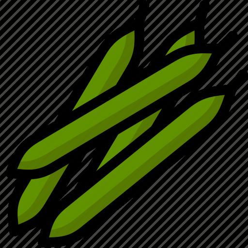 bean, green bean, healthy, organic, vegan, vegetable, vegetarian icon