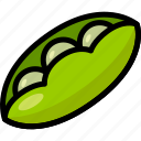 green, healthy, organic, peas, vegan, vegetable, vegetarian icon