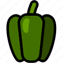 green pepper, healthy, organic, pepper, vegan, vegetable, vegetarian icon