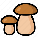 food, healthy, mushroom, organic, vegan, vegetable, vegetarian icon