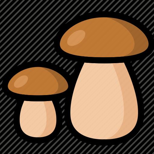 food, healthy, mushroom, organic, vegan, vegetable, vegetarian icon