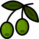 food, healthy, olive, organic, vegan, vegetable, vegetarian icon