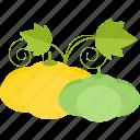 garden, pumpkin, seed, vegetables icon