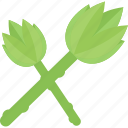 food, green, stalk, vegetables icon