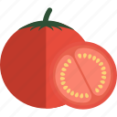 food, slice, tomato, vegetables icon