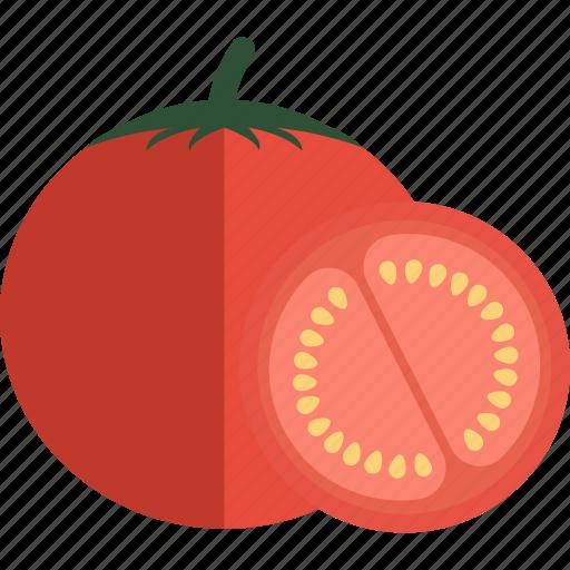 food, slice, tomato, vegetables icon