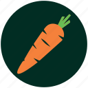 carrot, food, fresh vegetables, green house, healthy, salad, vegetable icon
