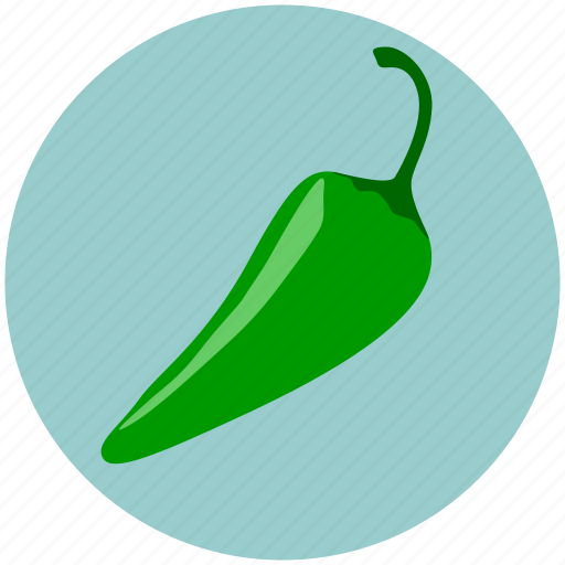 chilli, green, hot chilli, kitchen, pepper green, restaurant, vagetable icon