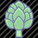 artichoke, food, healthy, vegetables icon