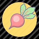 food, radish, vegetable icon