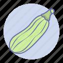 food, organic, vegetable, vegetables, zucchini icon