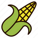 cooking, corn, food, maize, vegetables icon