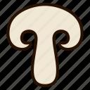 champignon, food, fungi, mushroom, vegetables icon