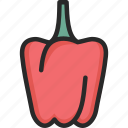 bell, capsicum, pepper, red icon