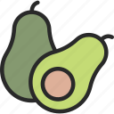 alligator pear, avocado, avocado pear icon